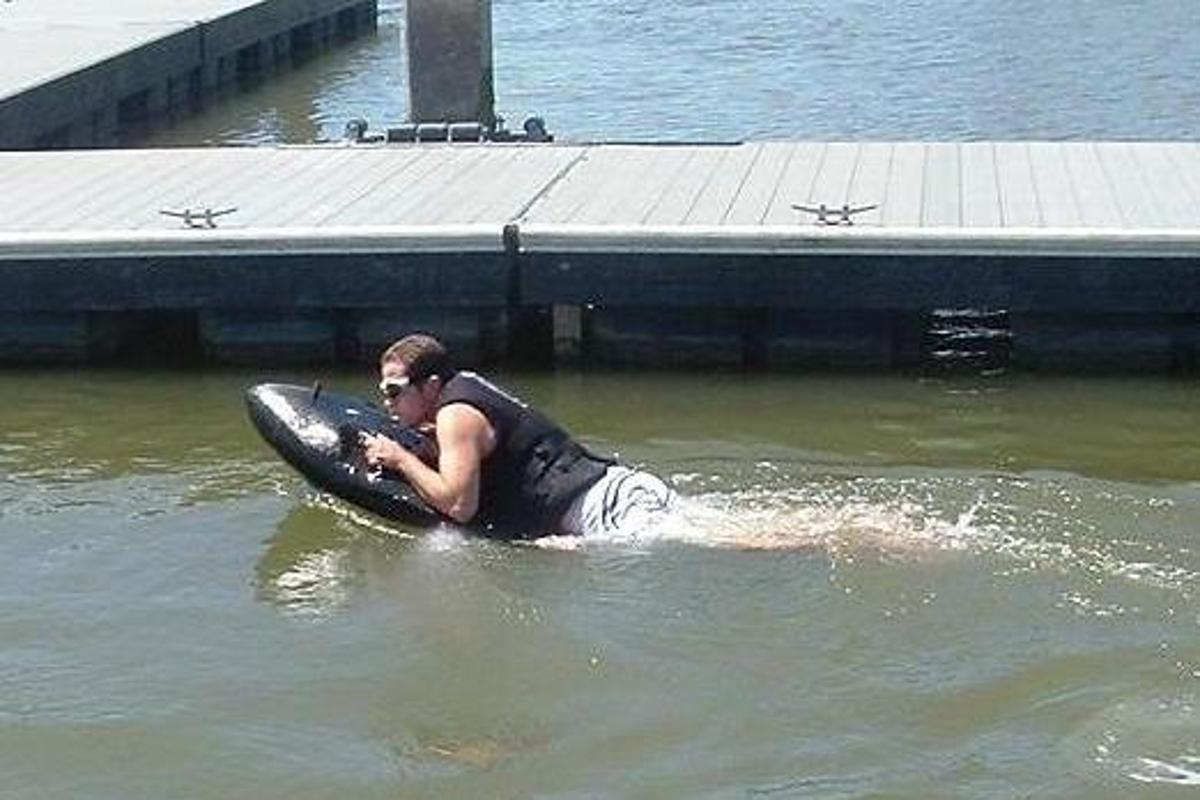The Kymera jetboard is a jet-powered body board