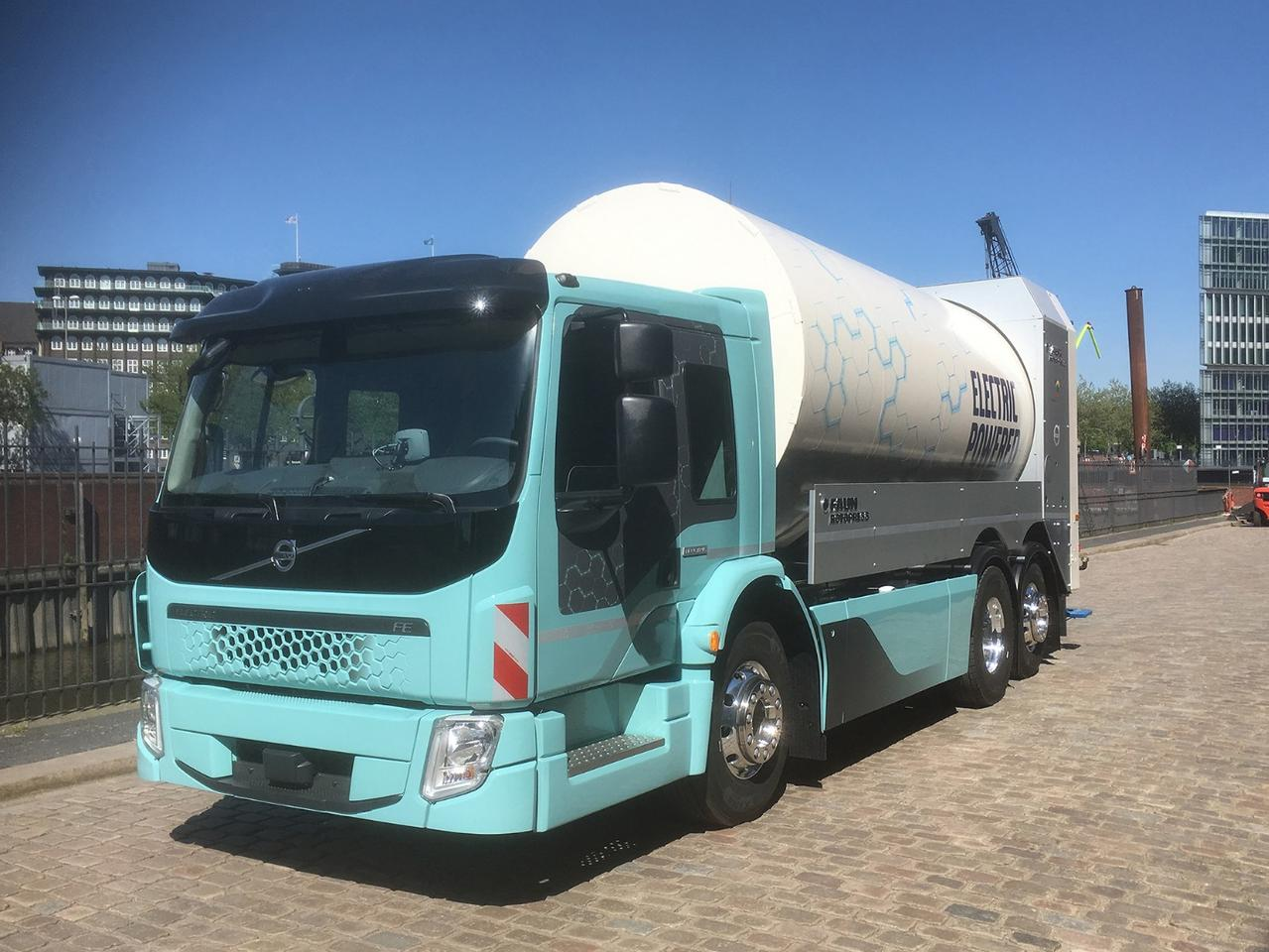 The Volvo FE Electric joins the Volvo FL Electric as the first clean-burning heavy haulers out of the Swedish automaker's stable