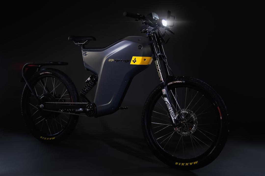 Meeting new European laws on e-bikes, the Greyp G12H is street legal and designed for everyday commuters