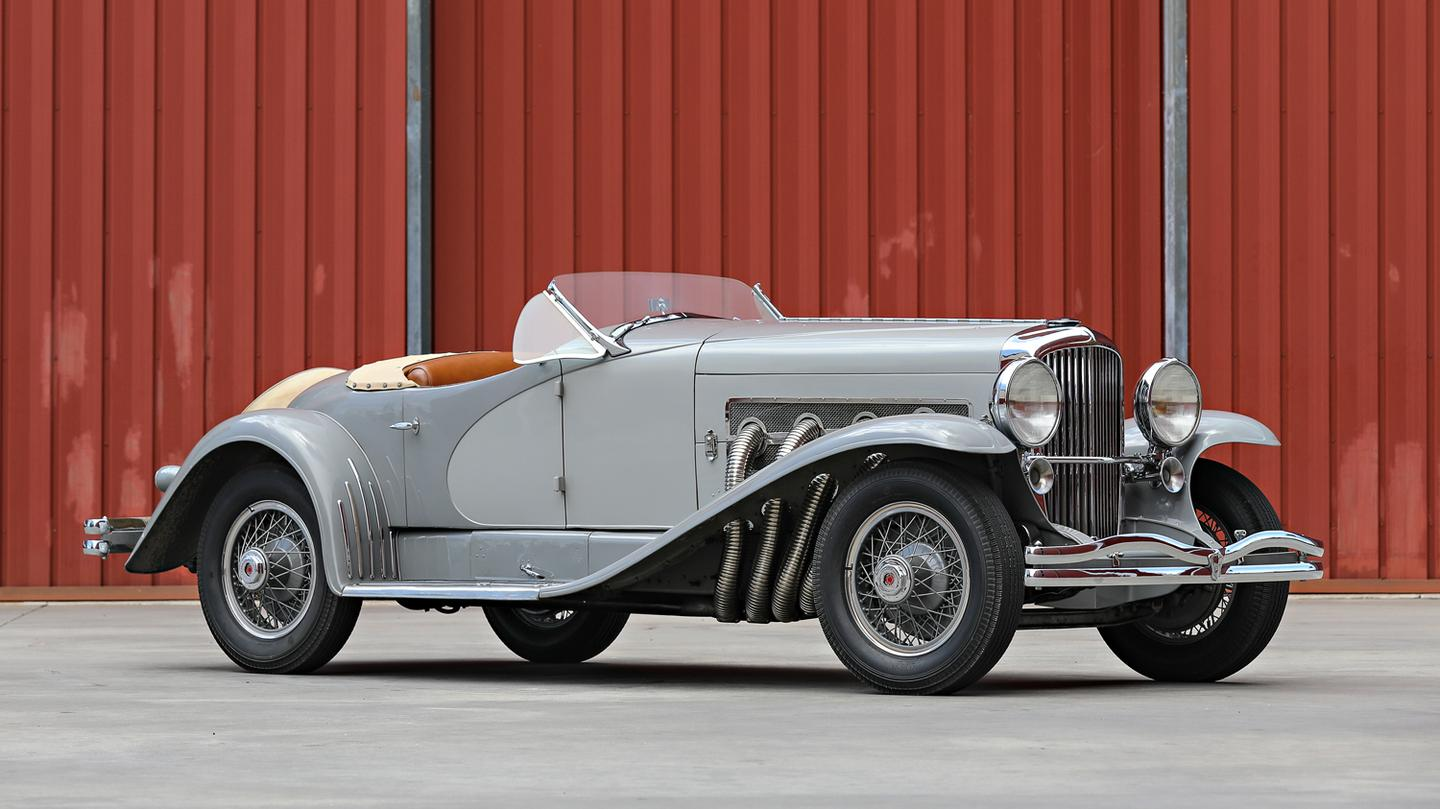 Quite possibly the most important and valuable American production car in history and the fastest production car in the world prior to WW2, the Duesenberg Special Sportster Model J owned by two-time Oscar winner, Gary Cooper. Gooding & Company, Lot 035 at the Official 2018 Pebble Beach Auction