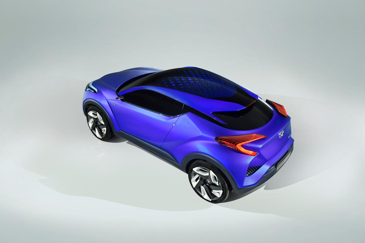 The C-HR has a low, sporty cabin