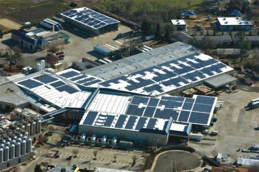 Over one-third of the Sierra Nevada Brewery's power will be solar