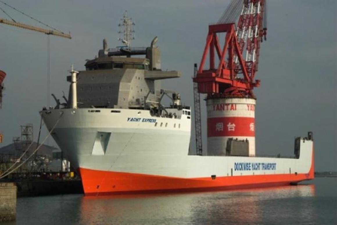 Dockwise's new Yacht Express carrier is launched.