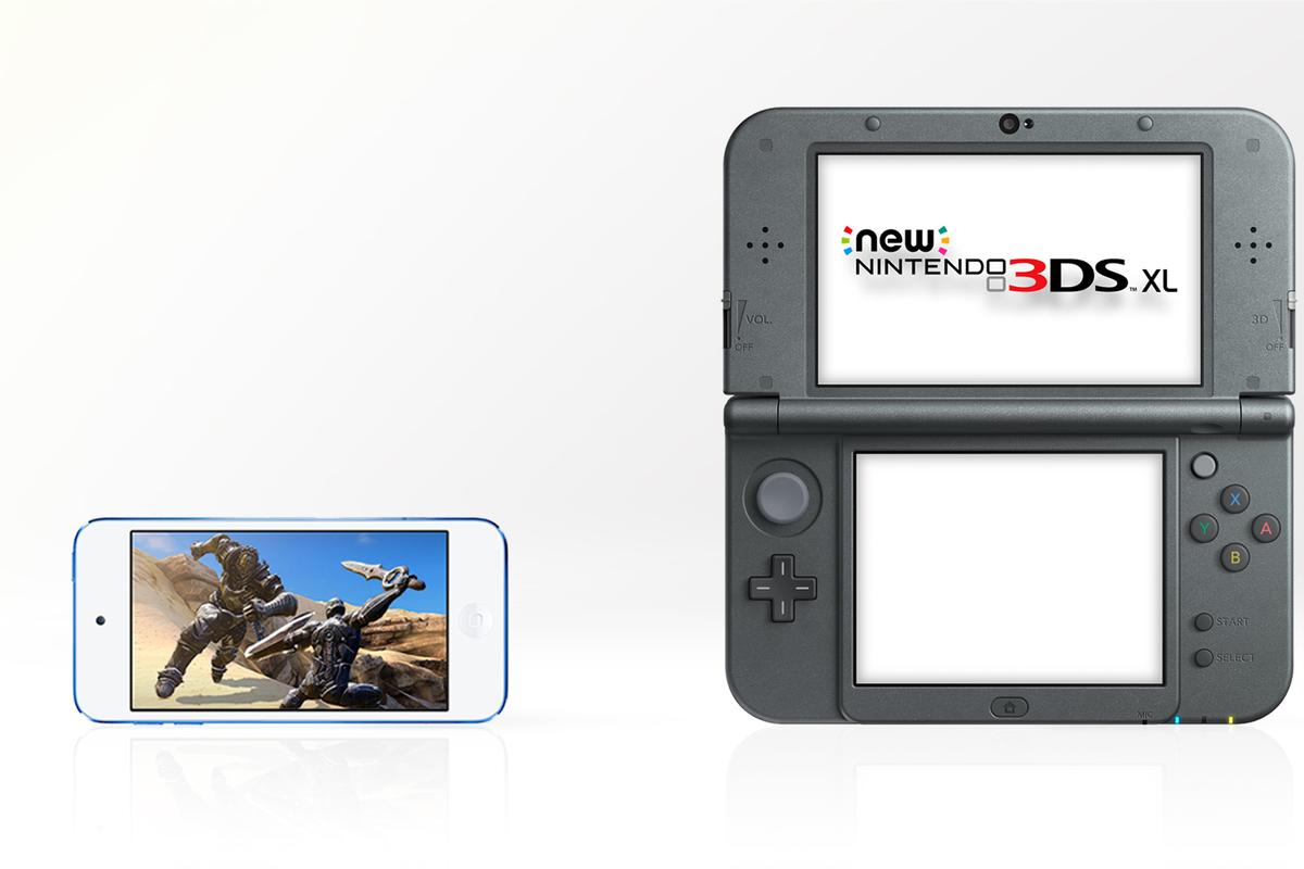 The iPod touch and New Nintendo 3DS XL are very different products, but they both offer gaming on the go