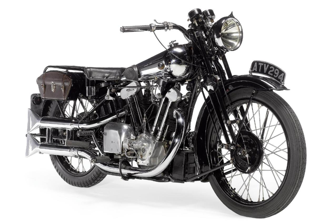Only around 1000 Brough Superiors are known to still exist. This 1933 Brough Superior SS100 was first registered in 1934. It sold for £131,300 (US$216,750) in April, 2011 at Bonhams' Stafford sale.