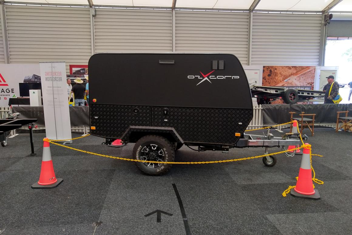OzX is testing this rugged, little prototype trailer now and also making the hybrid drive scalable to larger dual-axle caravans