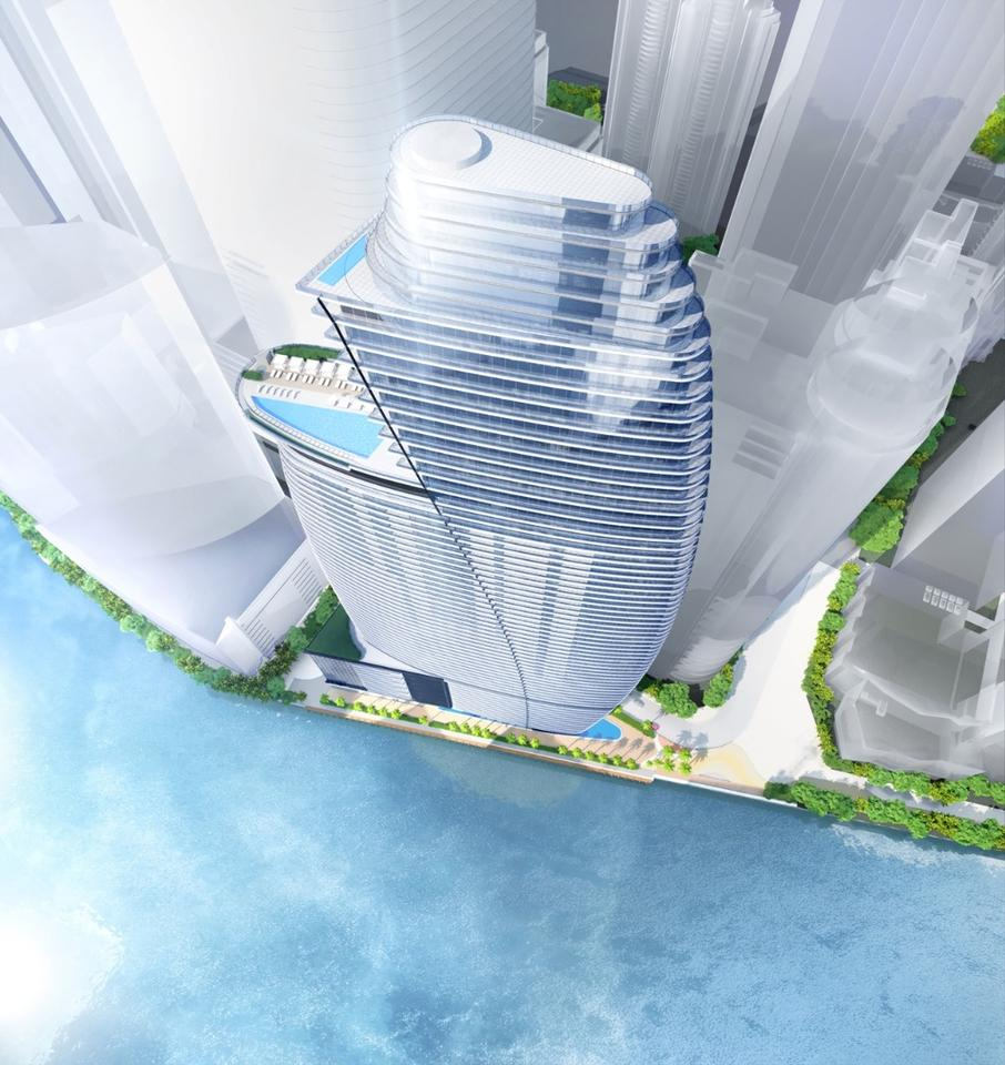 Located at the north of the Miami River, 300 Biscayne Boulevard Way will rise to 66 stories