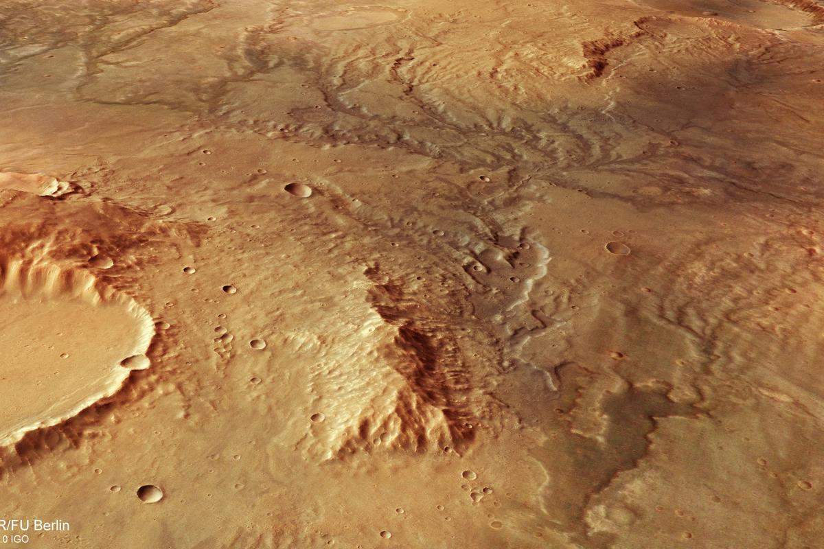 ESA's Mars Express orbiter has captured some stunning images of dry riverbeds on Mars