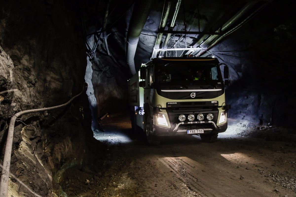 The Volvo FMX will be testedat the Boliden mine in Kristineberg, Sweden