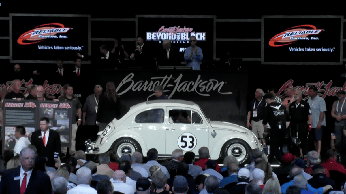 Herbie becomes the world's most expensive Volkswagen Beetlefor a second time