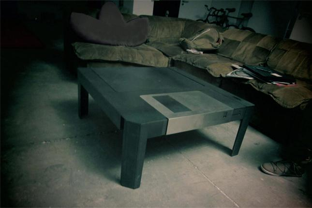 Floppytable takes the design of a floppy disk and turns it into a usable and visually stimulating coffee table