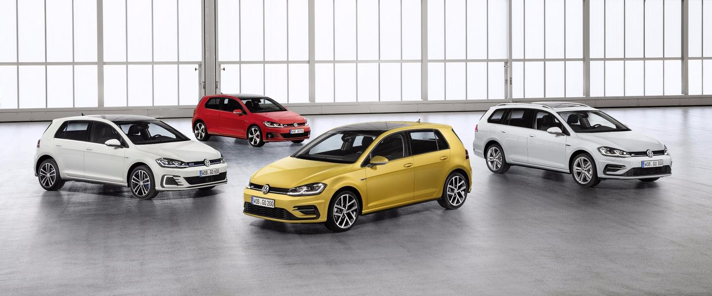 The refreshed Volkswagen Golf family