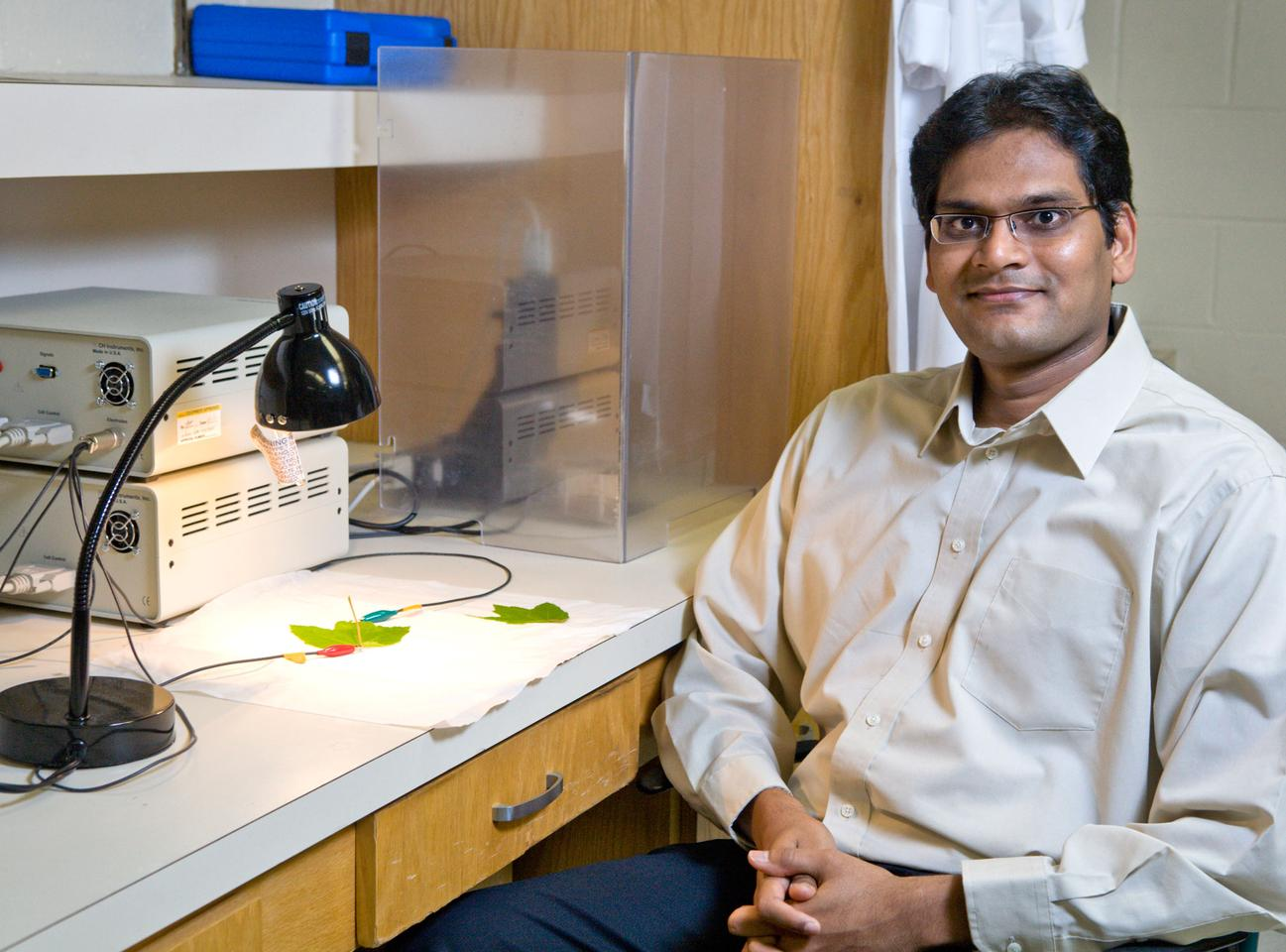 Ramaraja Ramasamy is developing technology to steal energy plants create during photosynthesis