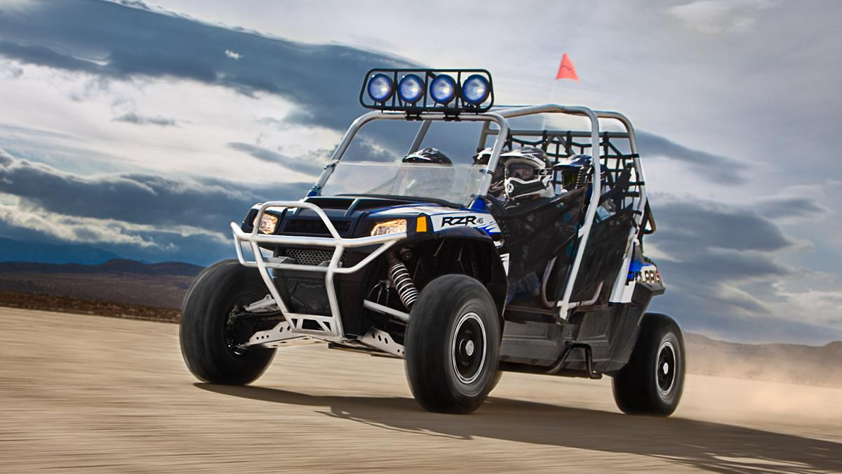 Polaris today introduced the first Robby Gordon edition, the all-new RANGER RZR 4, a sport side-by-side capable of carrying four passengers.