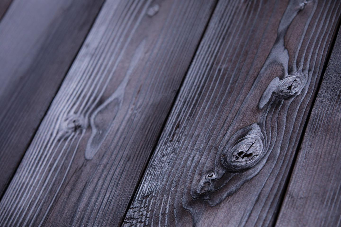 The One isclad in wood that has been charred using a Japanese method called Shou Sugi Ban
