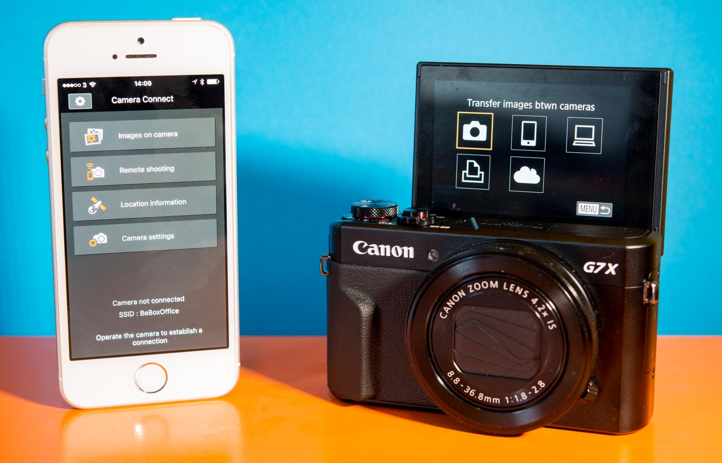 The Wi-Fi menu of the Canon Powershot G7X Mark II