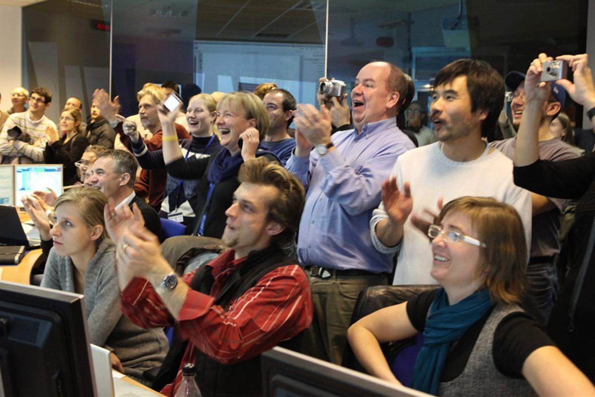 The successful restart of the Large Hadron Collider prompted scenes of jubilation
