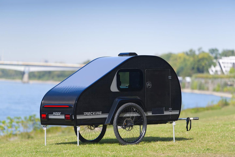 ModyPlast includes four stabilizing legs with each Bicycle Caravan
