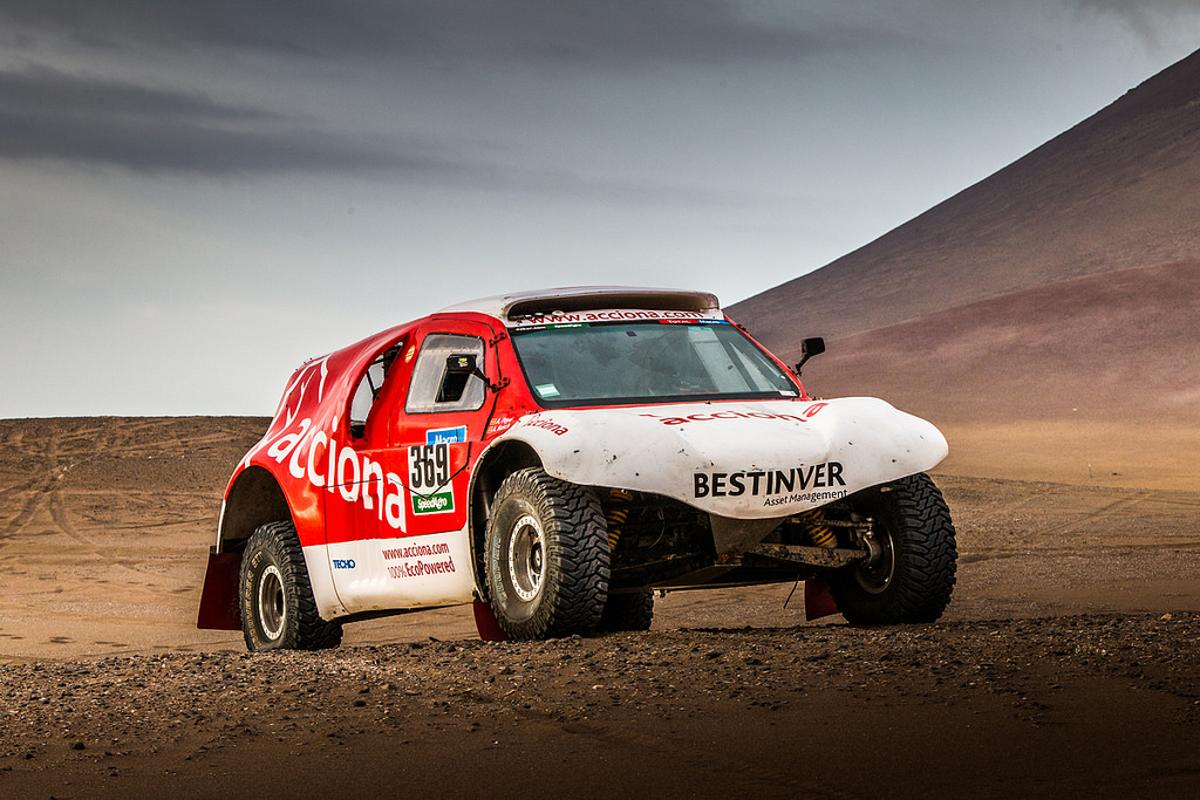 Acciona has become the first team to complete the Dakar Rally in a zero emissions vehicle
