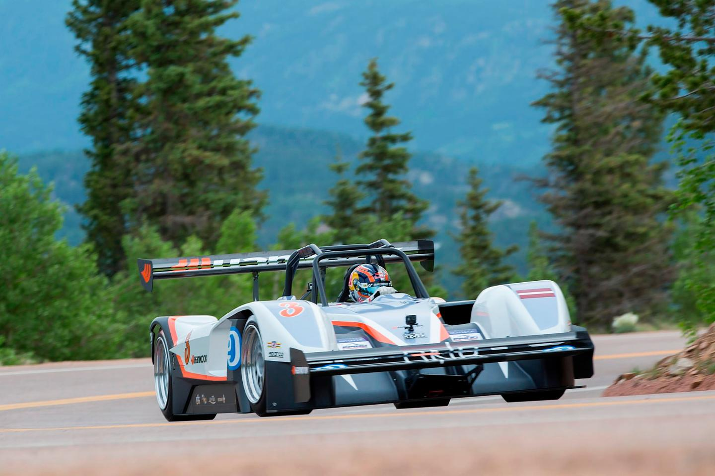 Rhys Millen on his way to victory in the 2015 Pikes Peak Hillclimb