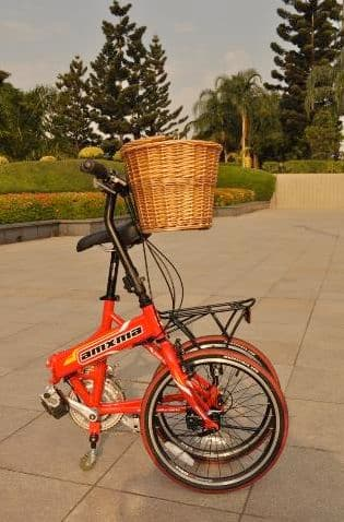 The Simple One bicycle folds up to double as a shopping cart