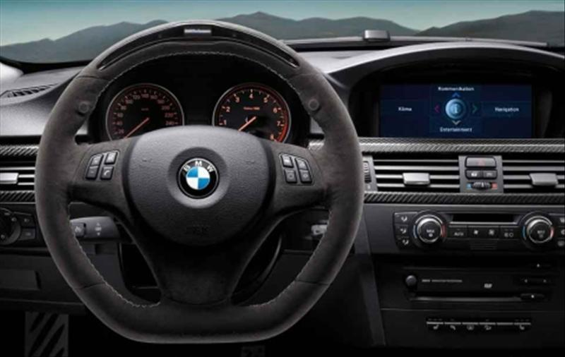 The BMW M Performance steering wheel