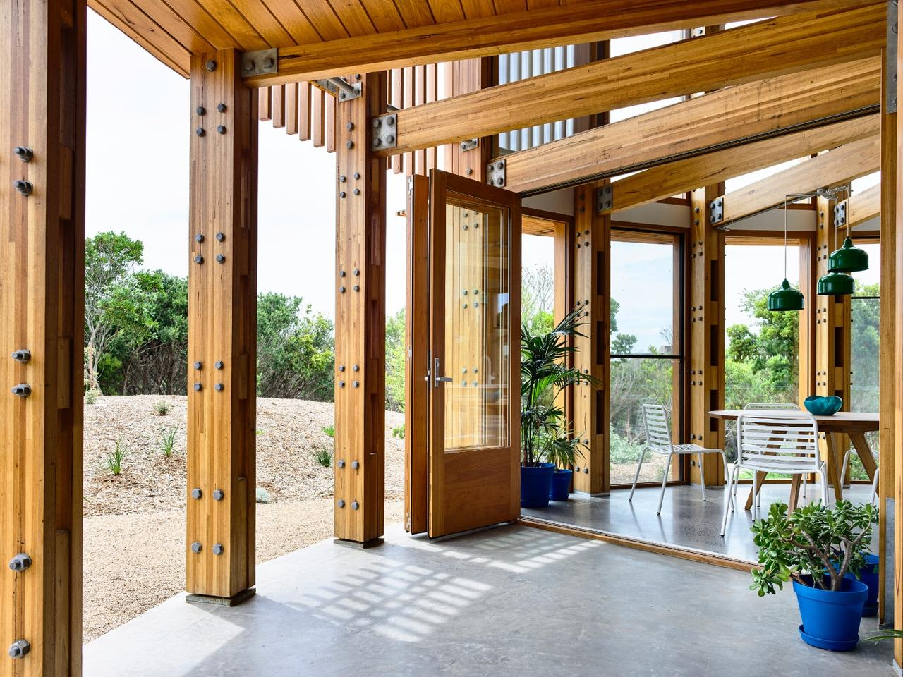 St Andrews Beach House opens up to the outside with bifold doors