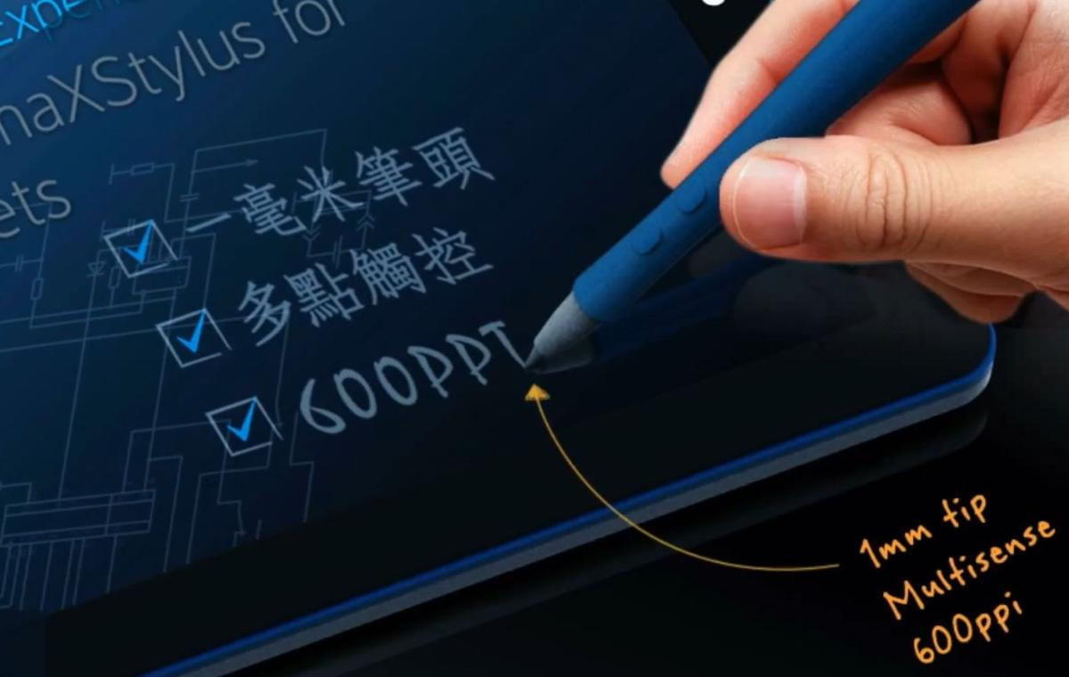 The maXStylus active stylus works with Android 4.0 and Windows 8, offering a 1mm stylus tip, and simultaneous finger and stylus operation