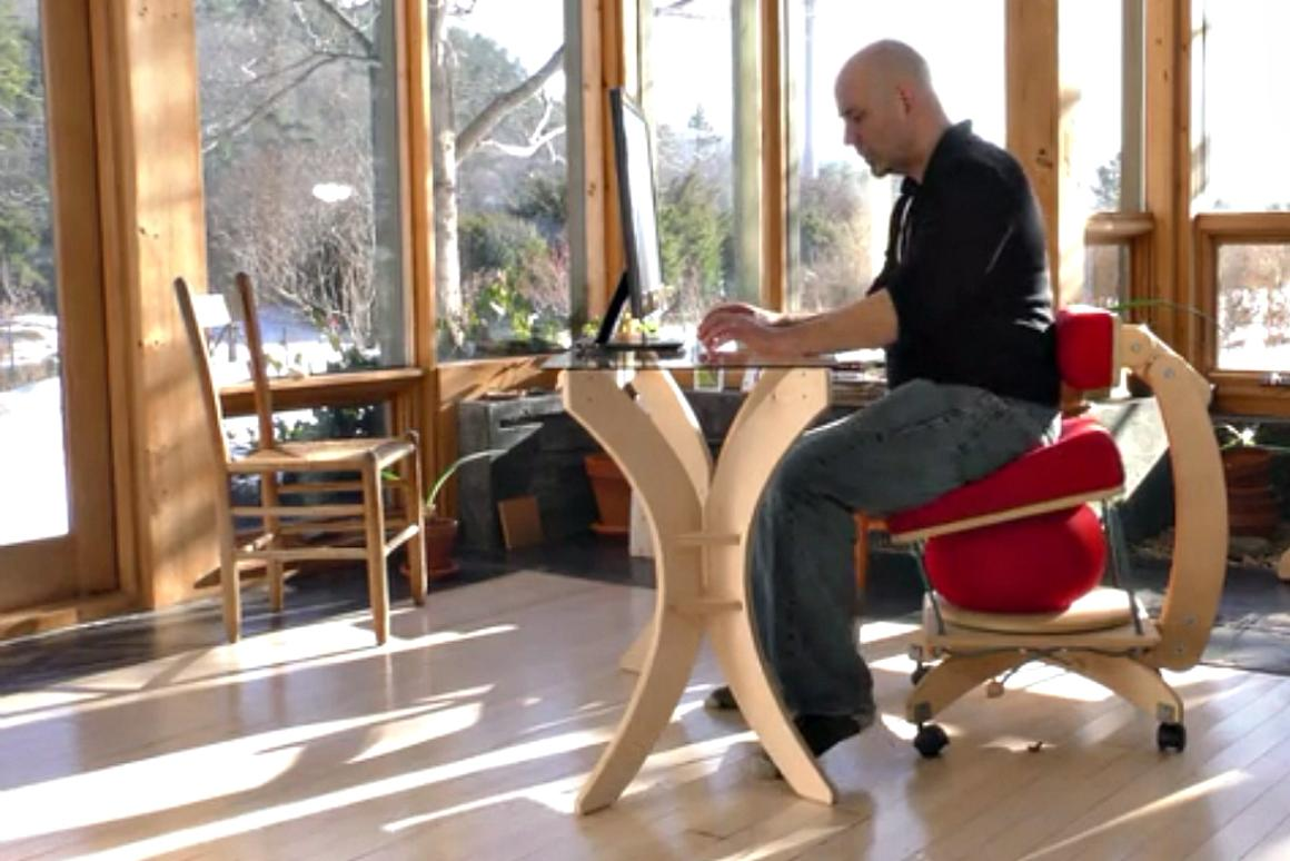 The Sprang Chair is designed to encourage active sitting, which is believed to be the key to staying healthy while sitting for long periods of time