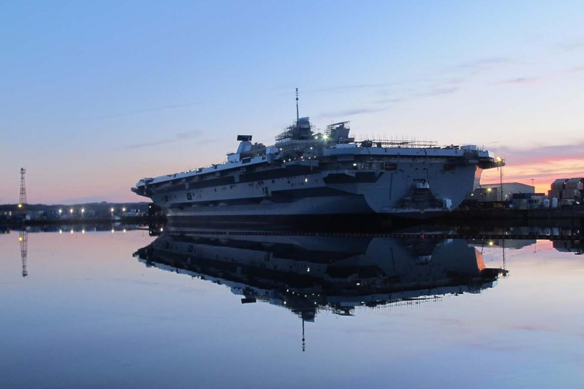 HMS Prince of Wales is set to go to sea in 2019