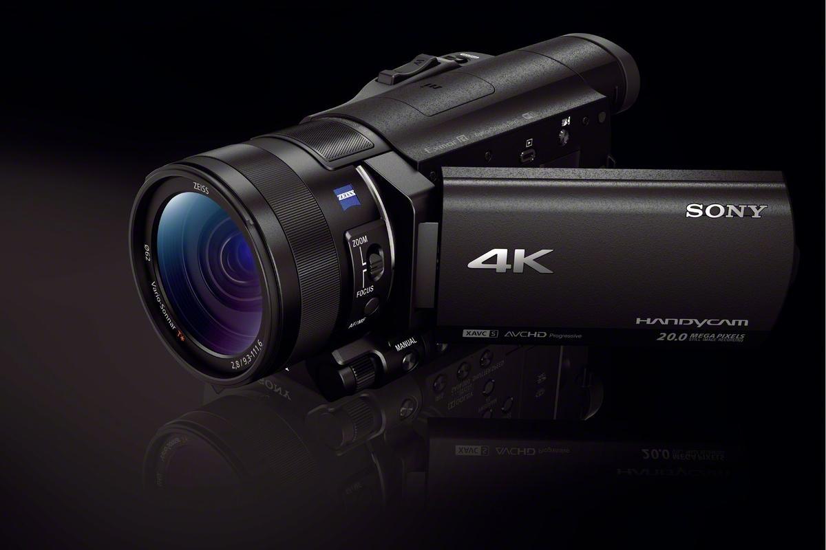 The Sony FDR-AX100 4K Handycam