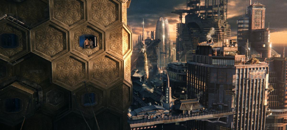The future city in the film Cloud Atlas