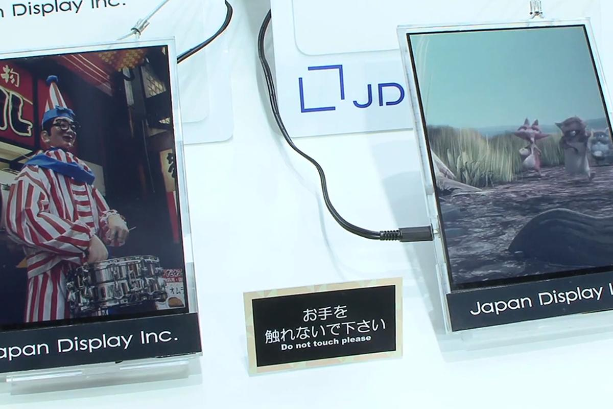 Japan Display's paper-like, color, reflective LCD can display video
