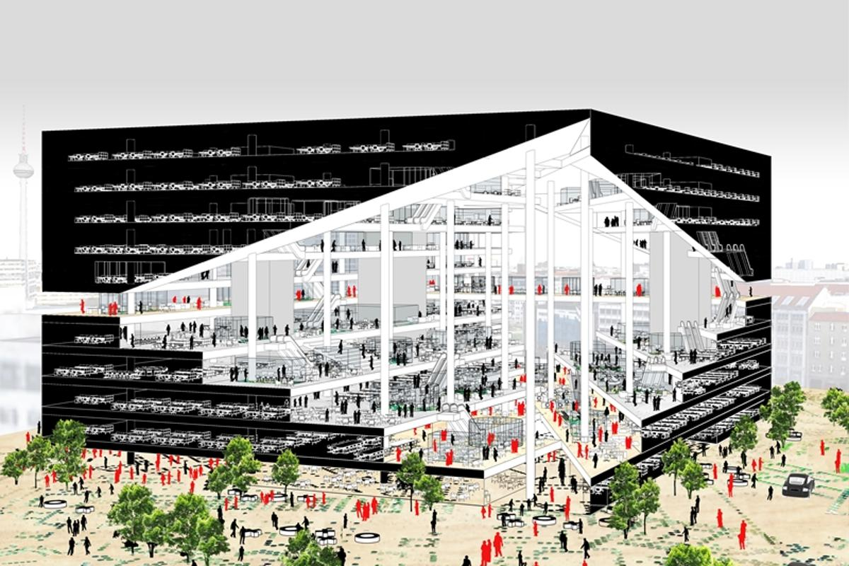 OMA has won a competition to design the new Axel Springer building (Image: OMA)
