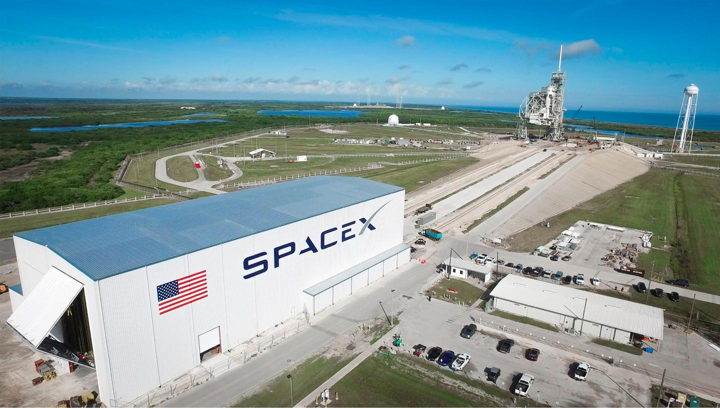 Launch Pad 39A at NASA's Kennedy Space Center in Florida undergoes modifications by SpaceX to adapt it to the needs of the company's Falcon 9 and Falcon Heavy rockets