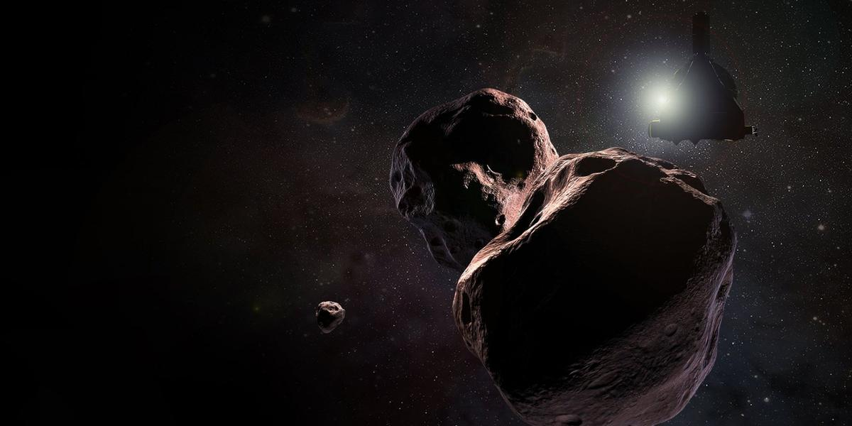 An artist's impression of Ultima Thule, which will be seen in much more detail in the coming days