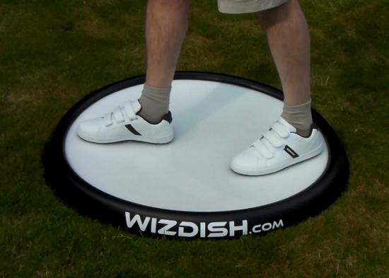 WizDish being used, with the sliding motion making the on-screen character walk