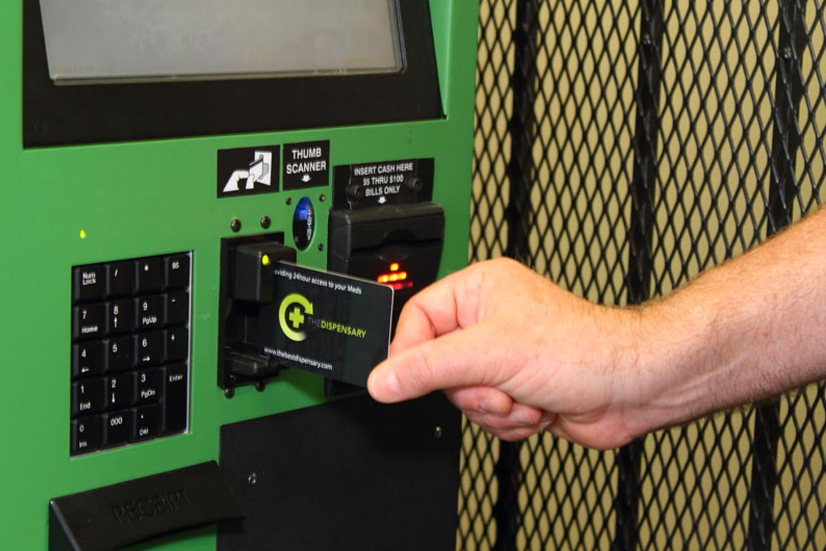 Autospense medical marijuana vending machine