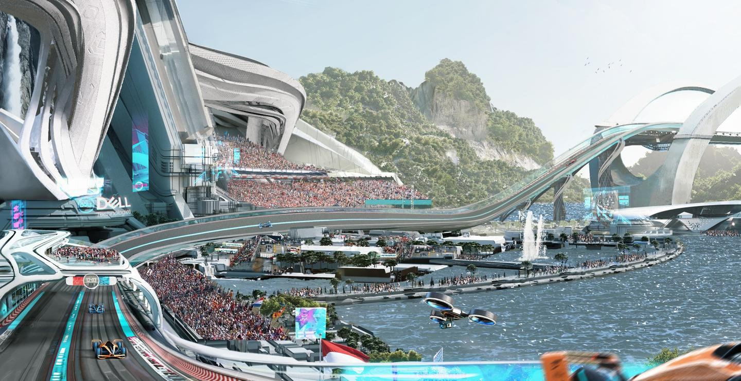 Future racetracks will need to be longer, wider ... and three dimensional, maybe?
