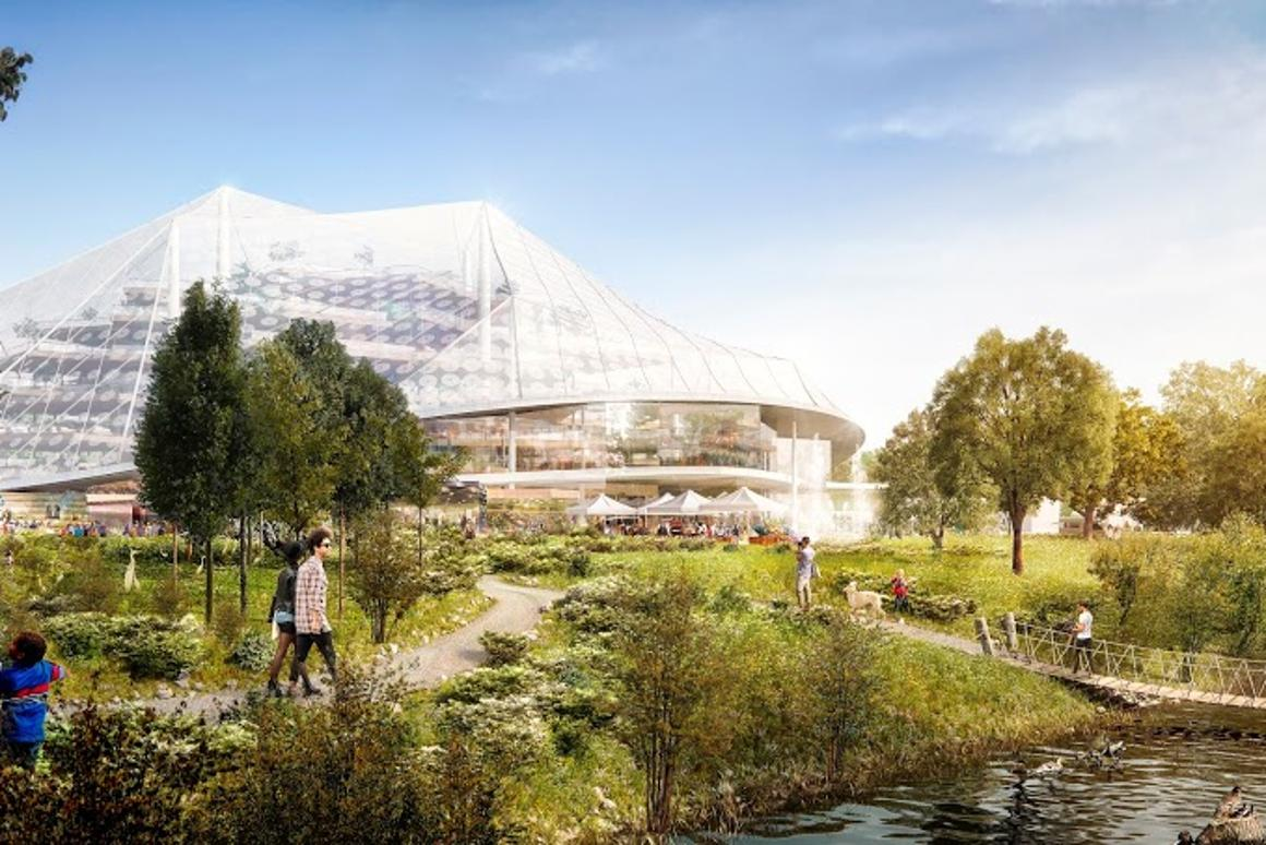 Google has commissioned top-tier architects Bjarke Ingels (of BIG) and Thomas Heatherwick to design its new green headquarters in Mountain View, California (Image: Google)