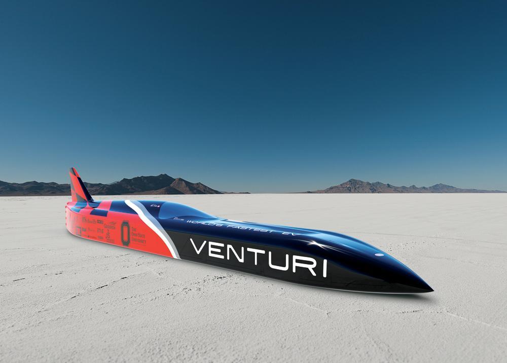 Venturi VBB - 3 electric car will attempt to reach a speed of 700 km/h (434 m/h) in 2015 (Photo: Venturi Automobiles)