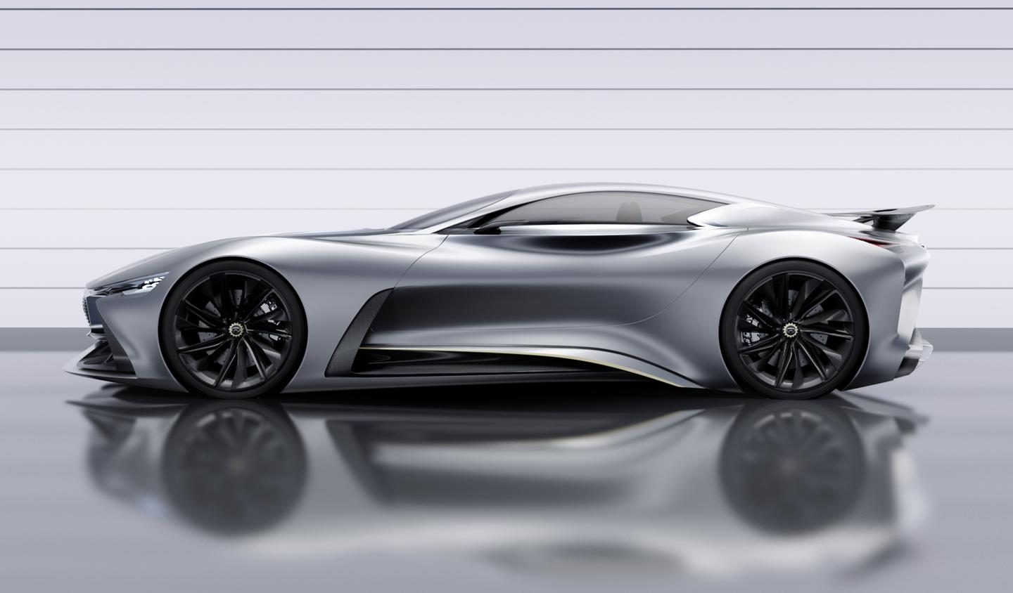 The Vision GT has a curvy profile and low roof