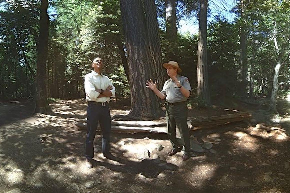 """A scene from """"Through the Ages,"""" a VRexperience touring Yosemite NationalPark alongside President Obama"""