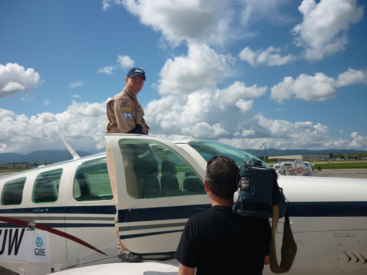 Pilot Jeremy Rowsell will be attempting the flight – but not in the aircraft pictured