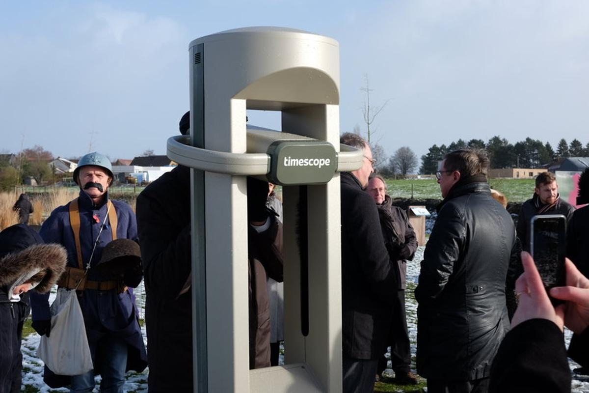 The free-to-use Timescope kiosk installed earlier this month at the Monument des Fraternisations