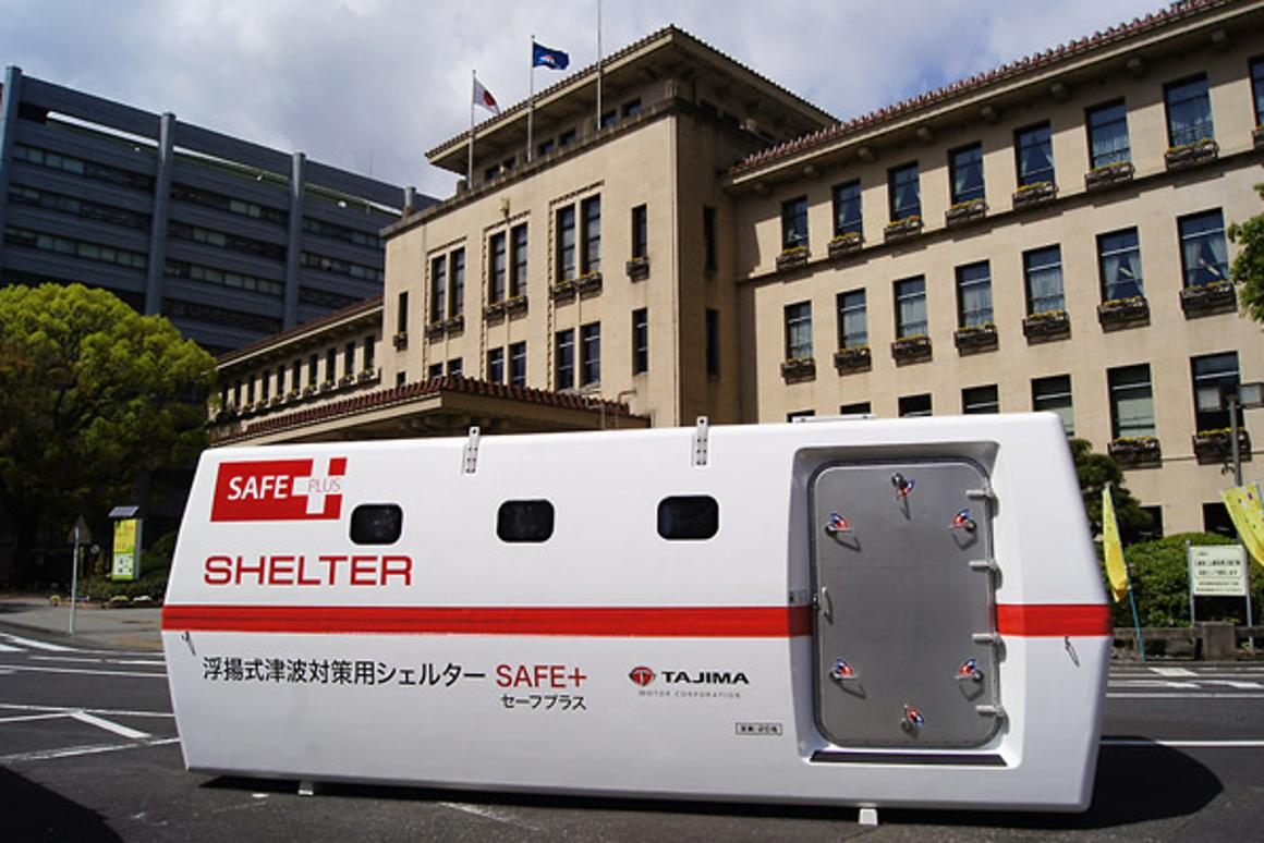 One ideal location for the SAFE+ Shelter is within an existing parking space outside a hospital
