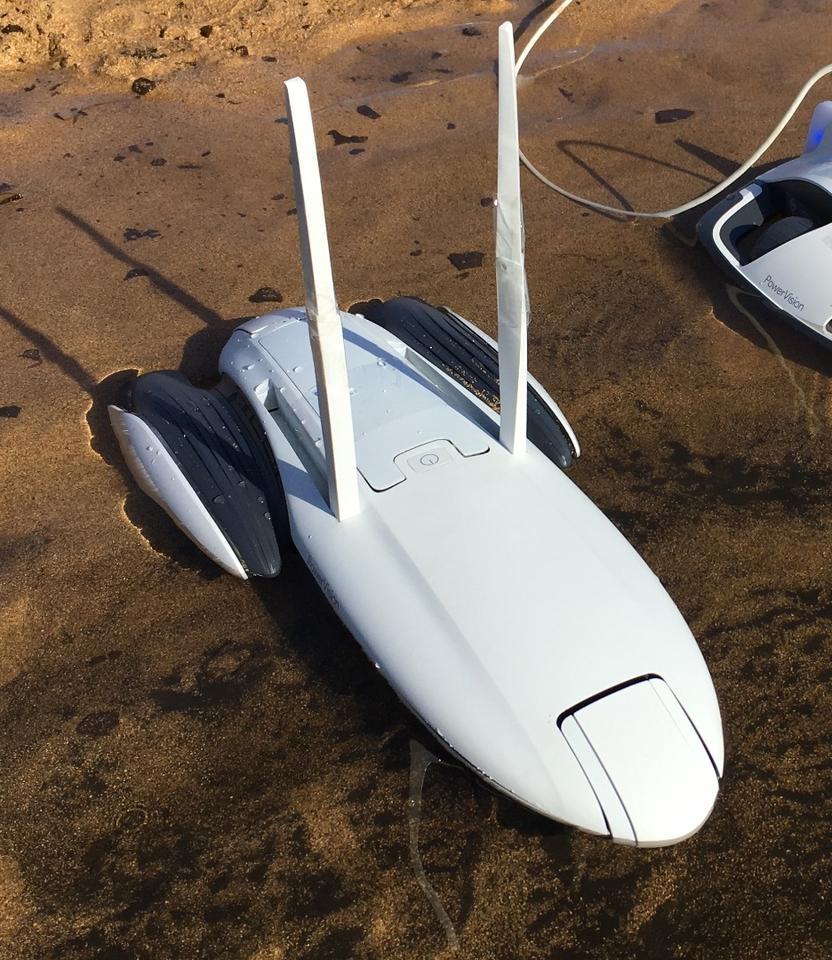 The PowerDolphin is designed to resist capsizing