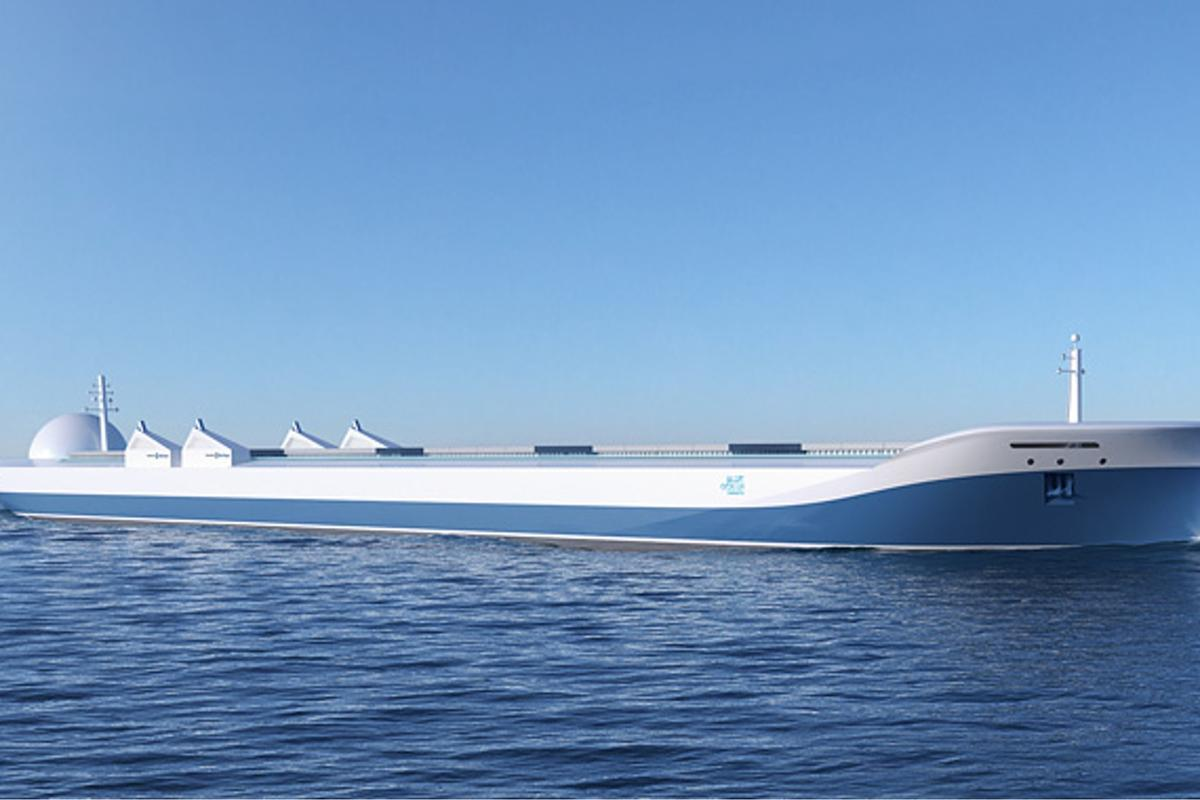 A concept rendering of the robotic ship of the future (Image: Rolls Royce)