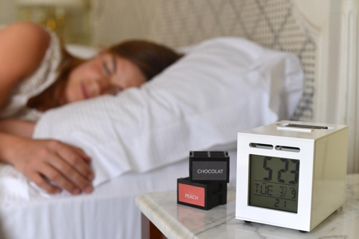 SensorWake emits your favorite scents just as you're due to wake up