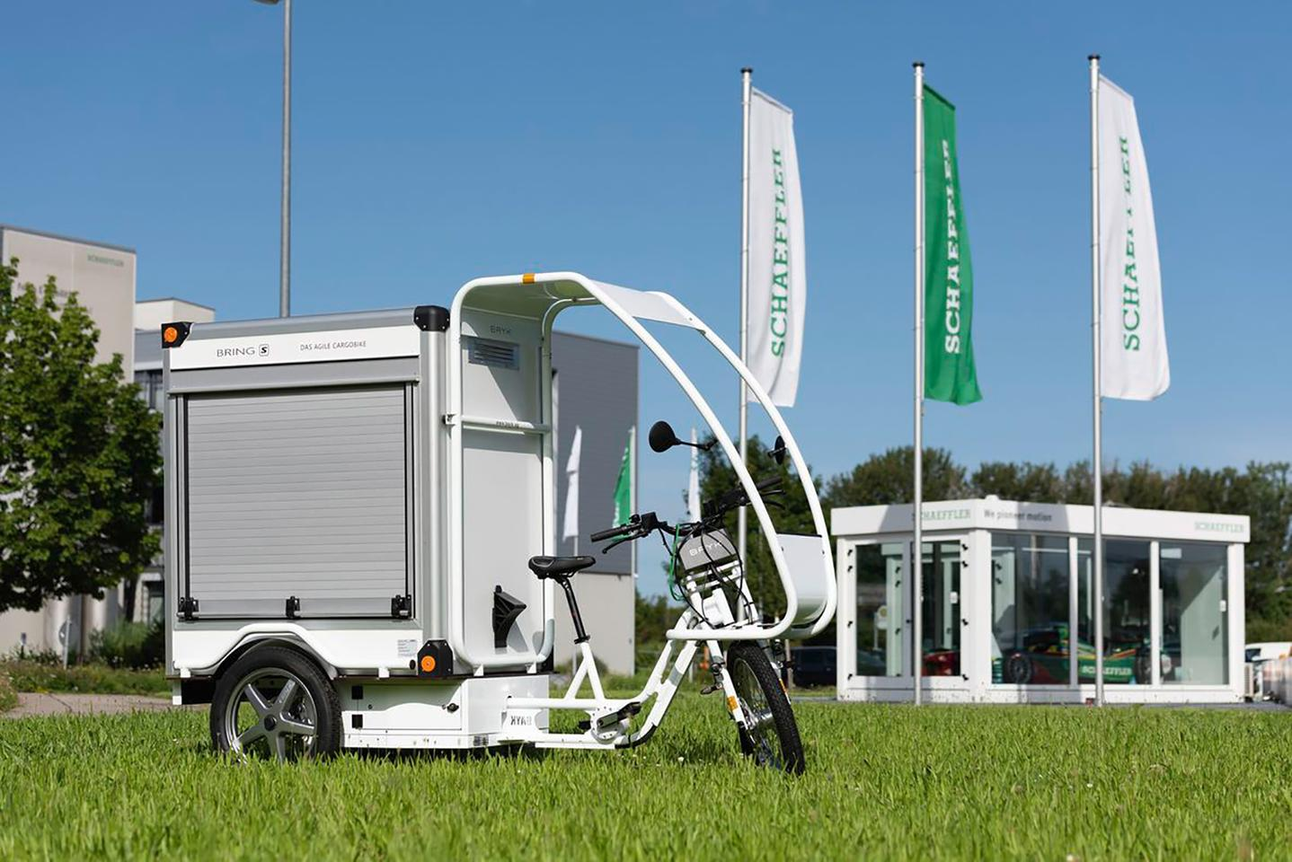 Along with ebikes, Free Drive could also be incorporated into 3- or 4-wheeled vehicles – it's built into this delivery trike